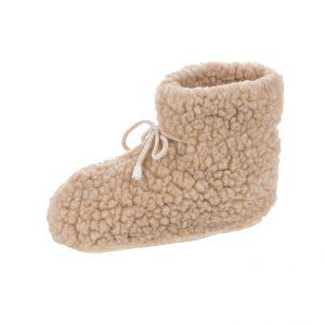 Beige wool warmers rotonde pantoffels