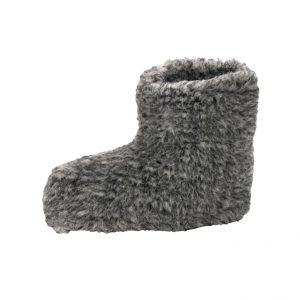 Grijze Wool warmers Rotonde pantoffels