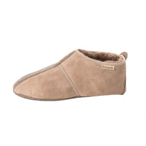 sude dames schapenvacht pantoffel rotonde pantoffels