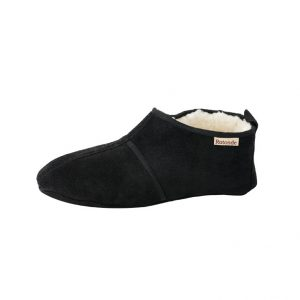 Zwarte spaanse sloffen rotonde pantoffels
